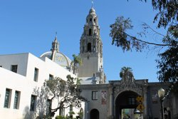 California bell tower in Balboa park